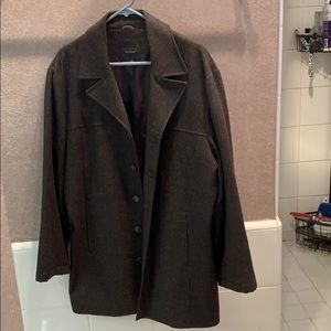 Reunion Brown wool short TRENCHCOAT